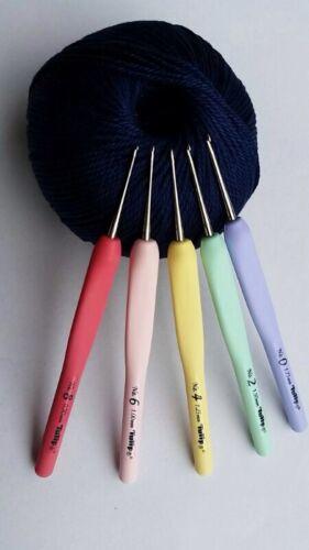 Tulip sucre perles crochet crochets Coussin Grip Tatting tb13 aiguilles l/'équipement fils