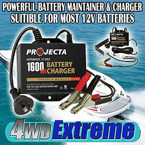 BATTERY-MAINTAINER-CHARGER-AC250B-PROJECTA-12V-BOAT-MOTORCYCLE-VINTAGE-CAR