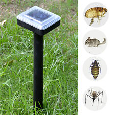 Pest Repeller Outdoor Yard Sonic Solar Dog Cat Bird Fox Mouse Rodent Adjustable