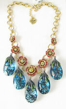 BETSEY JOHNSON Garden of Excess Faceted Teardrop Rose Gold-tone Necklace $145