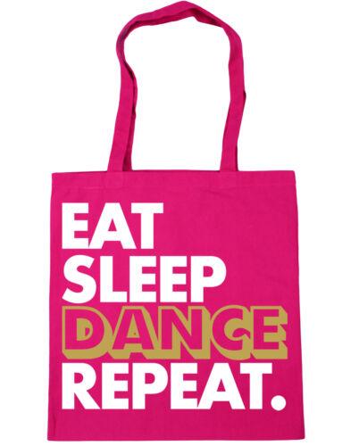 Eat Sleep Dance Repeat Tote Shopping Gym Beach Bag 42cm x38cm 10 litres