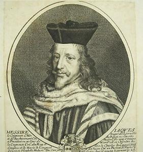 Antique Print Jacques Le Coigneux Seigneur De Bachaumont Sc Pierre Daret C1660