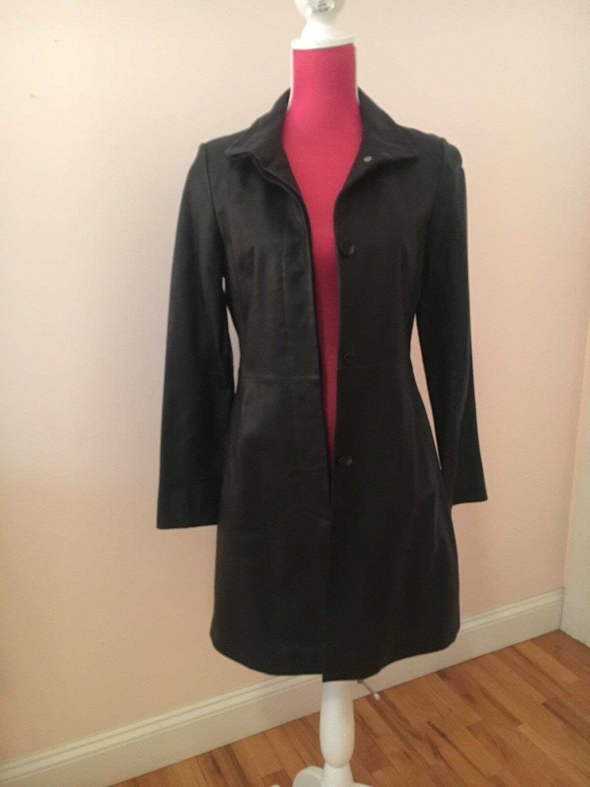 Womens COLE HAAN LEATHER COAT SIZE 2