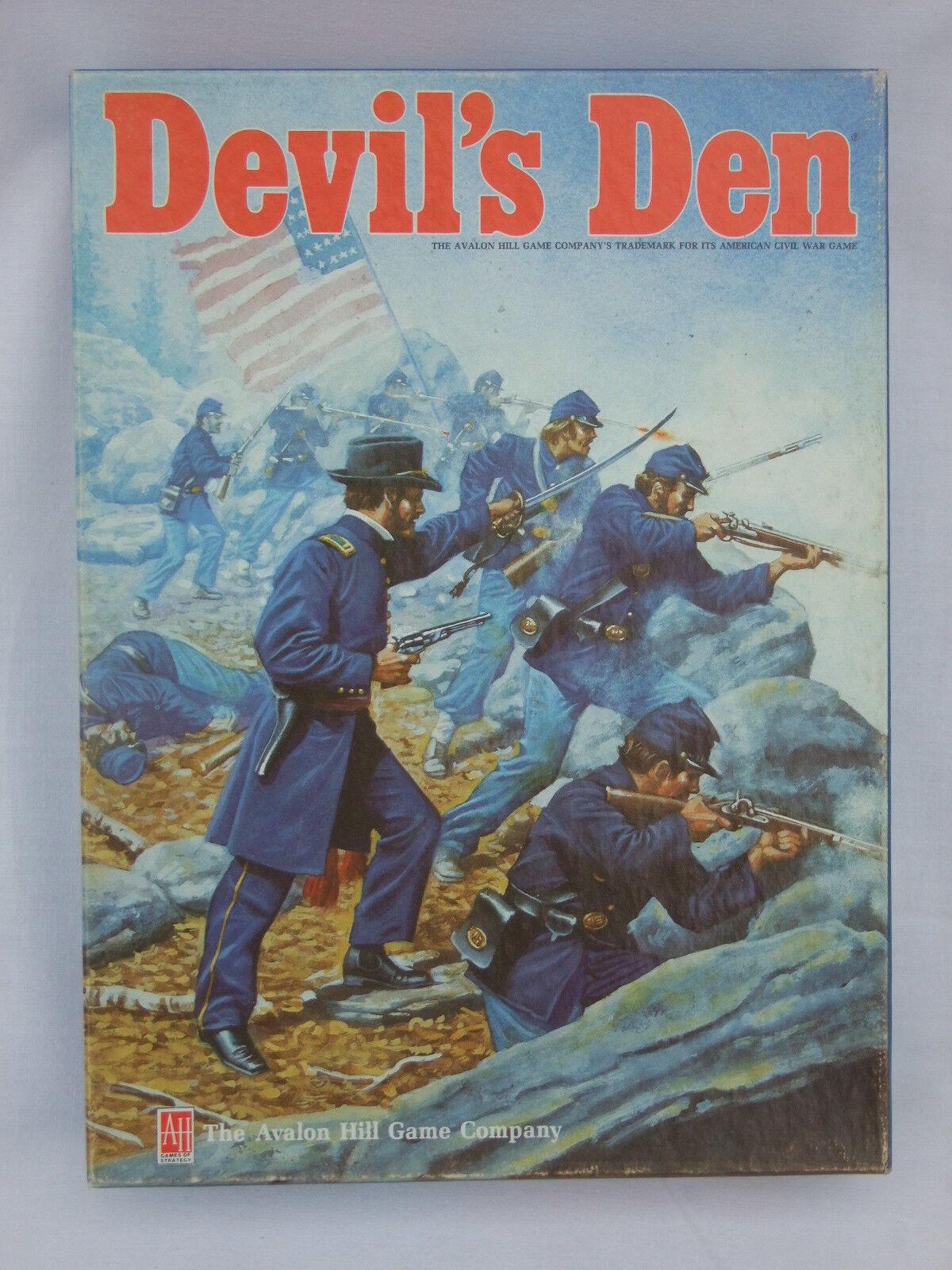 DEVIL'S DEN American Civil War Game by Avalon Hill 1985 No 862