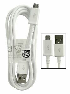 White-Genuine-Samsung-Galaxy-S5-Micro-USB-Sync-Data-Charge-Cable-Bulk-Pack-1M