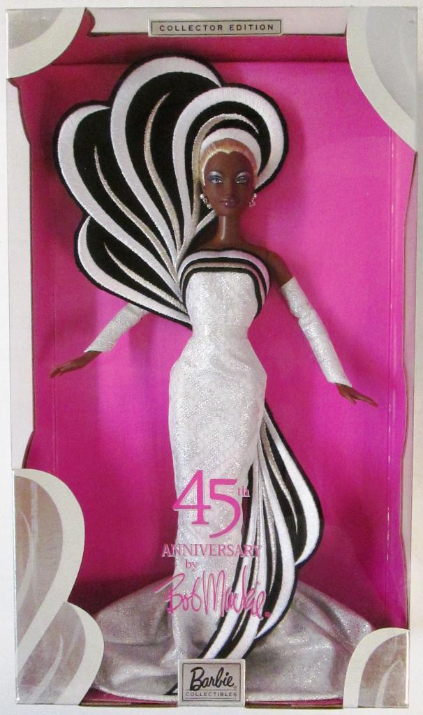 45th Aniversario Muñeca Barbie diseñado por Bob Mackie (nuevo)