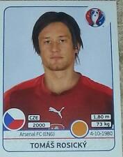 397 Tomas Rosicky CZECH REPUBLIC Panini Euro 2016 France sticker