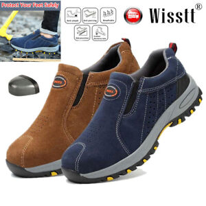 Men-039-s-Safety-Work-Shoes-Steel-Toe-Cap-Boots-Indestructible-Protection-Breathable
