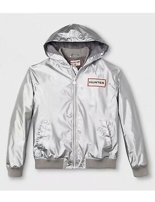 cheap buy popular official photos Hunter for Target silver hooded jacket mens size L windbreaker rain coat L  | eBay