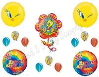 Tweety Bird Tie-dye Birthday Party Balloons Decoration Supplies Groovy Hippy