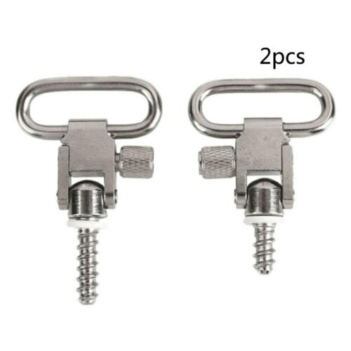 2X Stainless Steel Rifle Gun Sling Swivels with Studs Hunting Slings Mount vbn