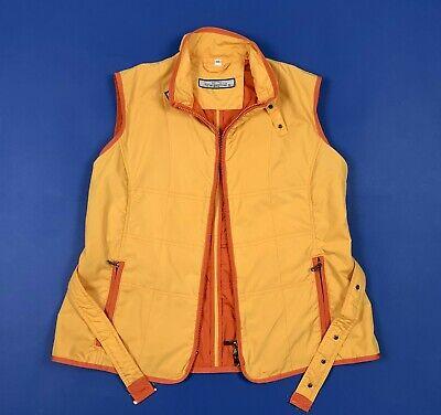 Bellissimo Talenti Smanicato Donna Usato W30 Tg 44 Giallo Arancione Giacca Gilet T5582