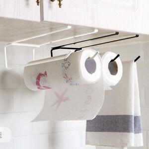 Details about Kitchen Paper Towel Hanger Roll Holders Storage Rack  Organizer Under Cupboard H