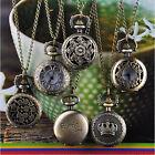 2017 Women Vintage Retro Bronze Quartz Pocket Dress Pendant Chain Necklace Watch