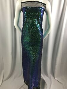 3b79938a5d5e1 Image is loading Mermaid-Fabric-Multicolor-Mini-Sequins-Embroidered-Mesh- Dress-