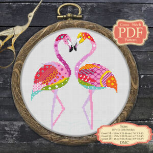 Flamingo-Mandala-Embroidery-Cross-stitch-PDF-Pattern-105-Zentangle-Animals