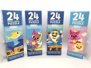 Lot-of-4-New-Pinkfong-Baby-Shark-Puzzles-each-puzzle-has-24-pieces-free-shipping
