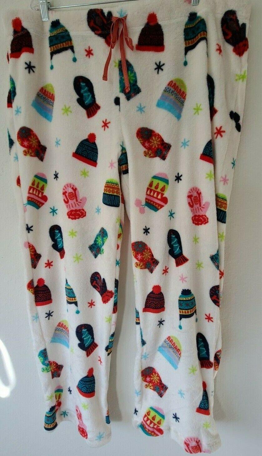 Hello Kitty Womens Halloween Minky Fleece Sleep Lounge Pajama Pants