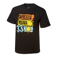 Wwe Wrestlemania 33 Paint Black T-shirt Mens Medium M