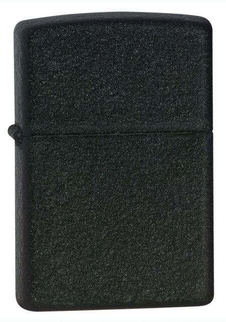 Zippo 236, Black Crackle Finish Lighter, Full Size **Extra 6 Flints & Wick**