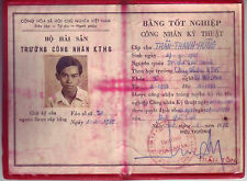 Vietnamese Student Graduation Diploma- Bang Tot Nghiep- 1978