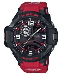 Casio-G-Shock-Analogue-Digital-Gravitymaster-Mens-Black-Red-Watch-GA-1000-4BDR