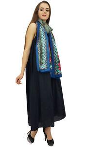 Bimba Damen Designer Marineblaues Kleid Mit Floral Bedrucktem Schal-wbh