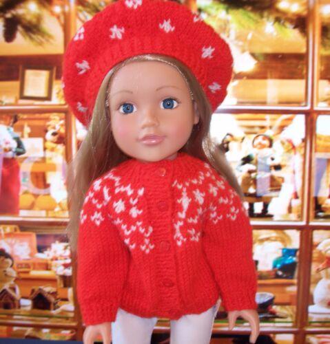 """DK Designer friend Christmas gift. Doll knitting pattern 18/"""" American girl"""