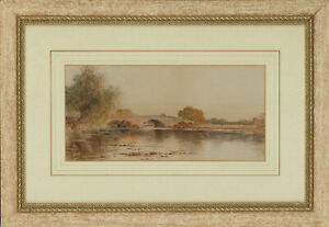 A. Marsh - Signed & Framed Early 20th Century Watercolour, River Landscape