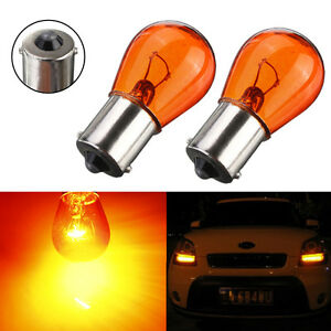 2x-12V-Car-Motorcycle-Scooter-Indicator-Amber-Turn-Signal-Light-Bulb-BA15S