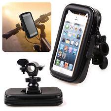 Motorcycle Bike Handlebar Holder Mount Waterproof Bag Case For Cell Phone GPS XB