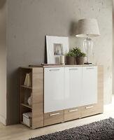 Kommode / Sideboard / Anrichte / GRAND 160 cm Lackiert-Weiß-Sonoma