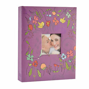 "6x4"" 200 Photos Large Slip in Photo Album with front Window - Purple  5060441998033"