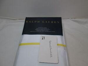 New Ralph Lauren PALMER PERCALE Queen Flat Sheet 464 TC ~ Slicker Yellow NIP