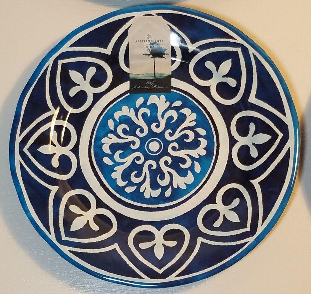 Artisan De Luxe bluee & White Medallion Melamine 9  Salad Plates 4