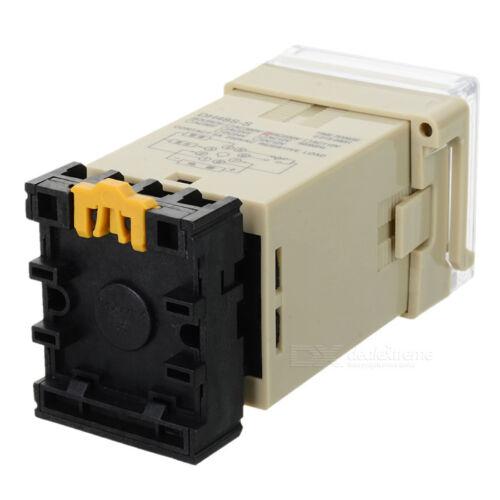 DH48S-S 12V//24V//220//240V relais temporisé timer avec socket base répéter cycle