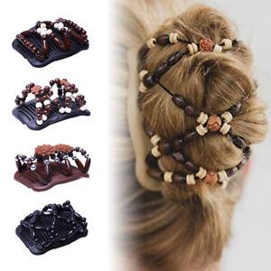 Femme-Epingle-Cheveux-Double-Peigne-Clip-Pince-Perle-Extensible-Barrette-Mariage
