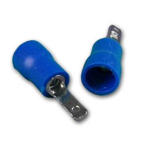 50 câbles Chaussures-fiches plates Bleu 2,8 x 0,8mm pour 1,5-2,5mm² câble connecteur Chaussures