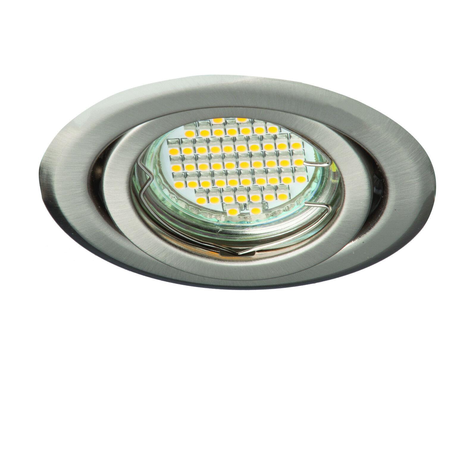 100x Round Ceiling Tilted Recessed Downlights Spotlights GU5.3 GU10 230V OH15