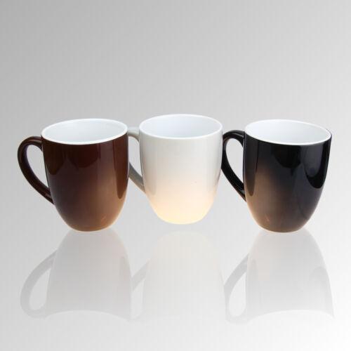 Henkeltasse Design Tassen Cappuccino Set versch Porzellan Kaffeebecher