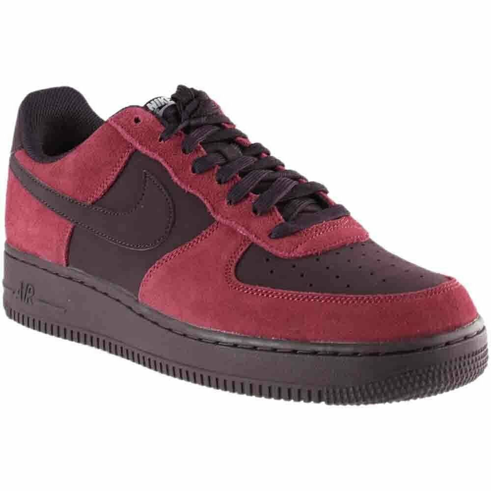 NIKE AIR FORCE 1 RED BLACK 820266 605 MENS US SIZES