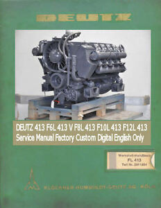 deutz 413 f6l 413 v f8l 413 f10l 413 f12l 413 service manual factory rh ebay com deutz f6l413 parts manual Deutz Engine Parts Manual