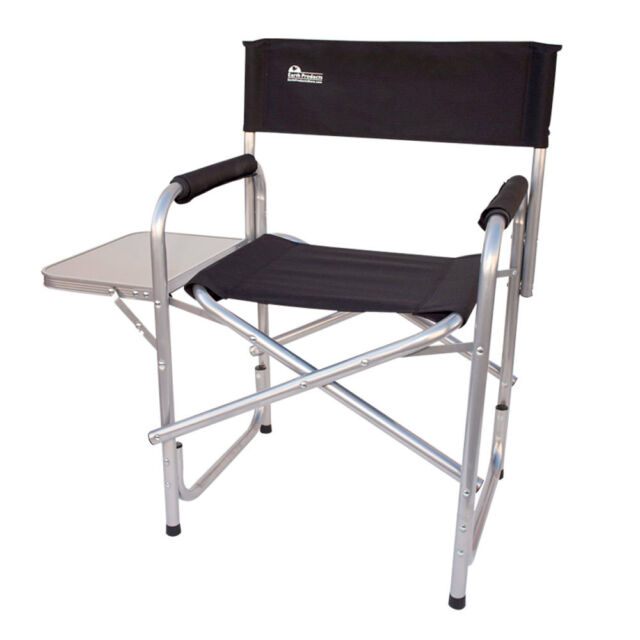 Earth Products Extra Heavy Duty Short Directors Chair With Convenient Side