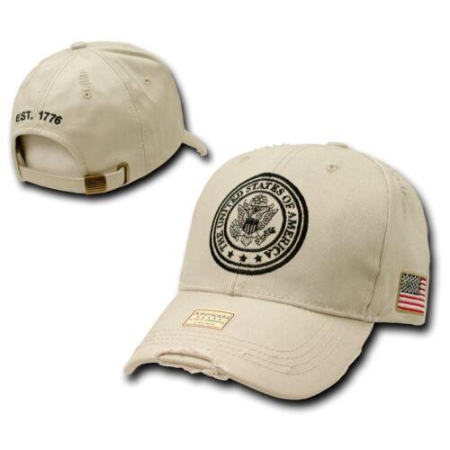 Khaki United States of America USA American Vintage Baseball Cap Caps Hat Hats