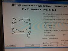 Honda CR125R  Cylinder Base Gasket 1987 1988 1989 12191-KS6-700