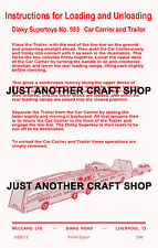 Dinky Toys 983 Car Carrier & Trailer Instruction Leaflet