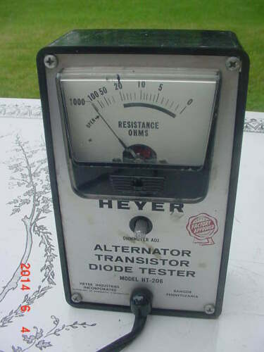 Vintage Heyer HT-206 Alternator Transistor Diode Tester Ham Radio Repair