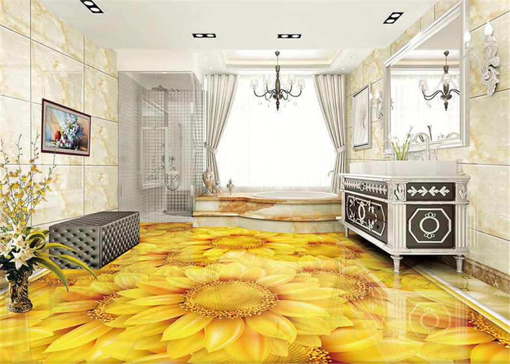 Gorgeous Heronsbill3D Floor Mural Photo Flooring Wallpaper Home Print Decoration