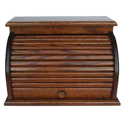 Amish Handcrafted Solid Pine Bread Box and 3 Door Vegetable Bin