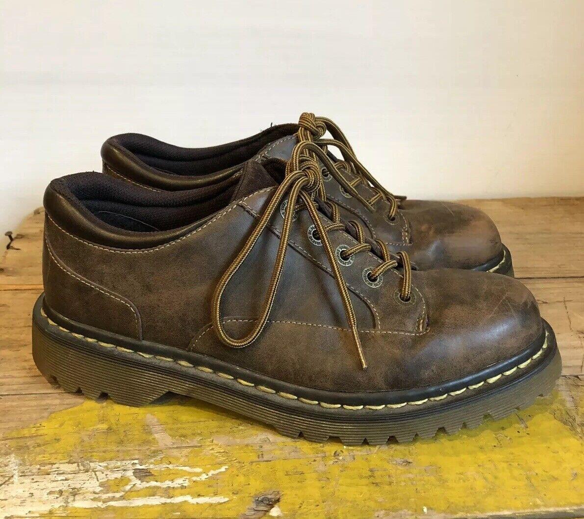 Doc Dr Martens Abilene Mujer Zapatos Con Cordones Cordones Cordones Cuero Marrón Talla 10 UE 42 con aspecto envejecido  Ven a elegir tu propio estilo deportivo.